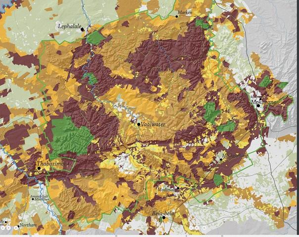 NoGo map for prospecting  mining in Limpopo Jul 2019